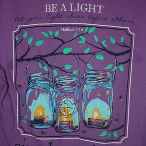 "Simply Southern ""Be a Light"" Short Sleeve Shirt L"